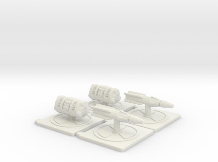 Tauri Nuclear Munition Tokens 3d printed