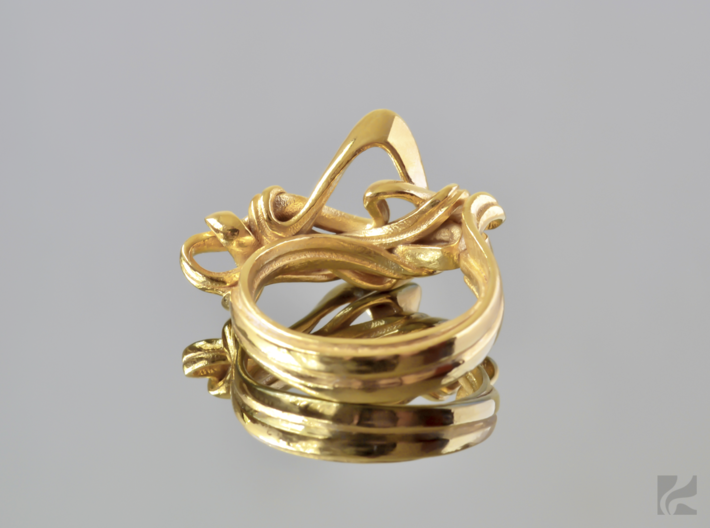Weaving Ribbons Ring 3d printed