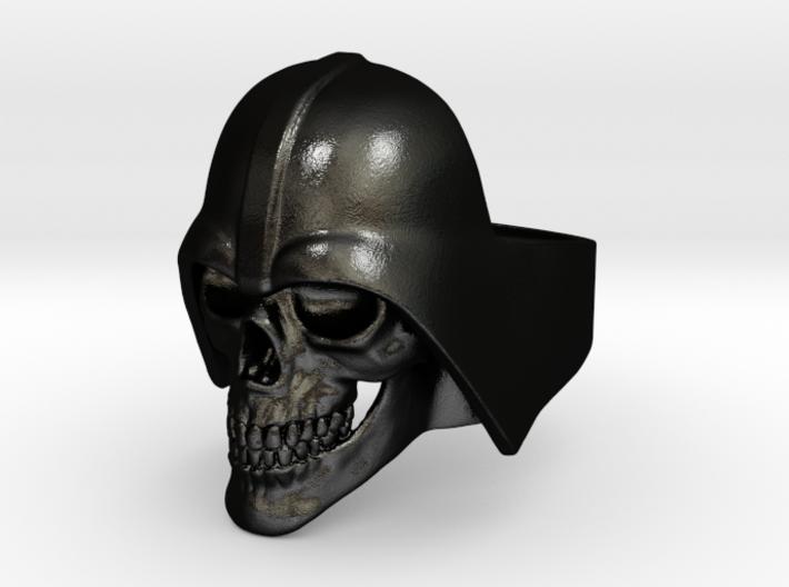 Skull Vader Ring 3d printed