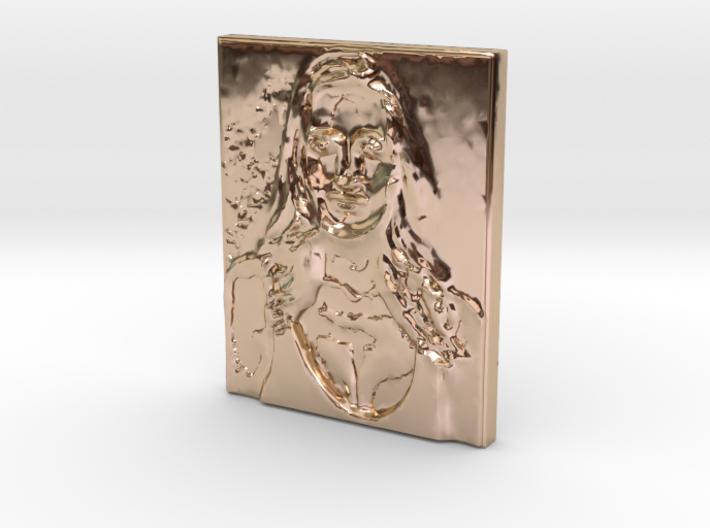 Crystal F Pendant  3d printed