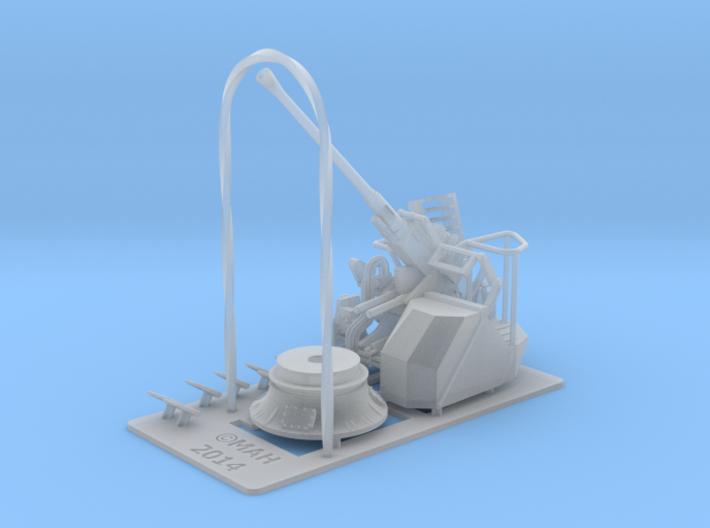 Bofors MKVII elevated 1/96 3d printed