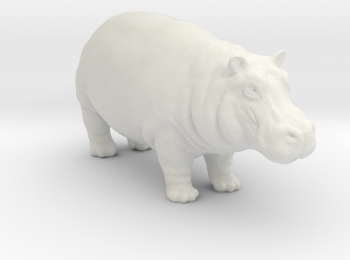 Printle Thing Hippo - 1/24 3d printed
