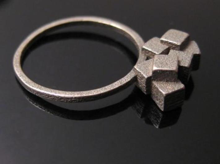 Cubes Ring 01 3d printed Minimalist Jewelry