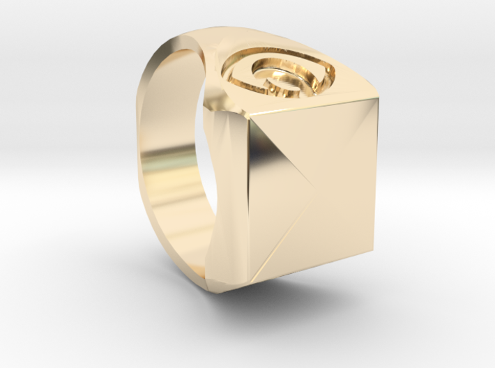 ring pyramid mystical 3d printed