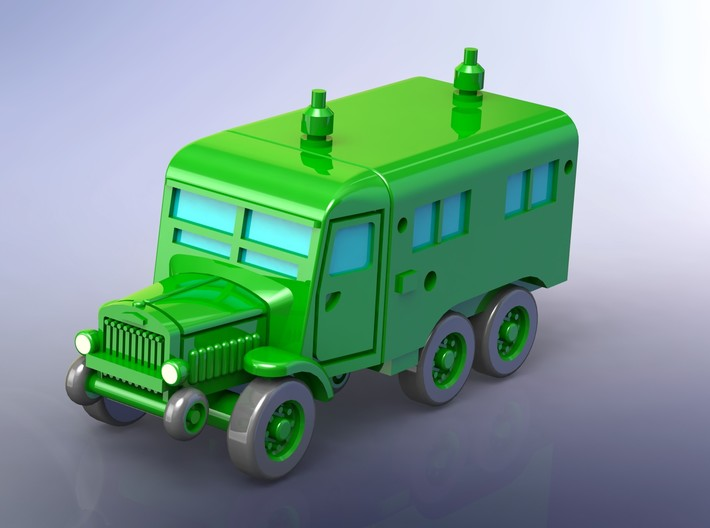 French Laffly S20T PC Radio Car 1/285 3d printed