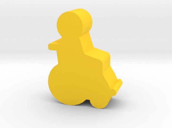 Game Piece, Wheelchair Patient 3d printed