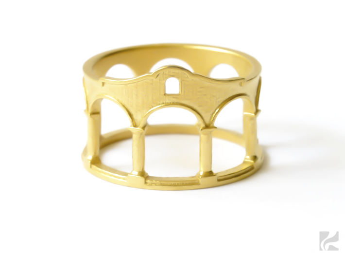Hacienda Ring 3d printed