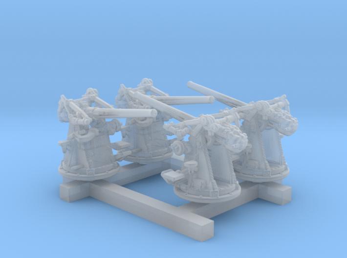 "1/350 12-pdr 3""/45 (76.2 cm) 20cwt Guns x4 3d printed 1/350 12-pdr 3""/45 (76.2 cm) 20cwt Guns x4"
