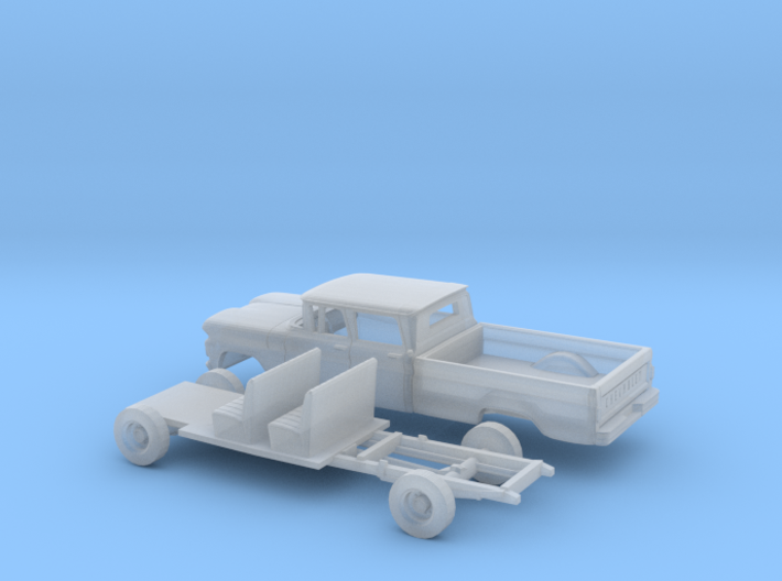 1/160 1960/61 Chevrolet C20 Crewcab small Rear Win 3d printed