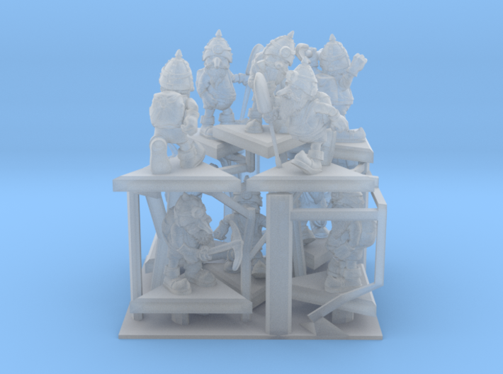 SHAFTED: Resplendent Red Gnomes Frosted 3d printed
