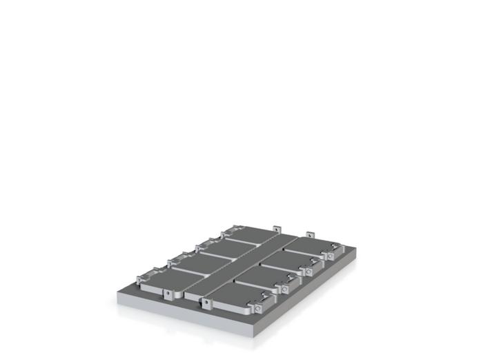 1/144 scale Burke VLS system 3d printed