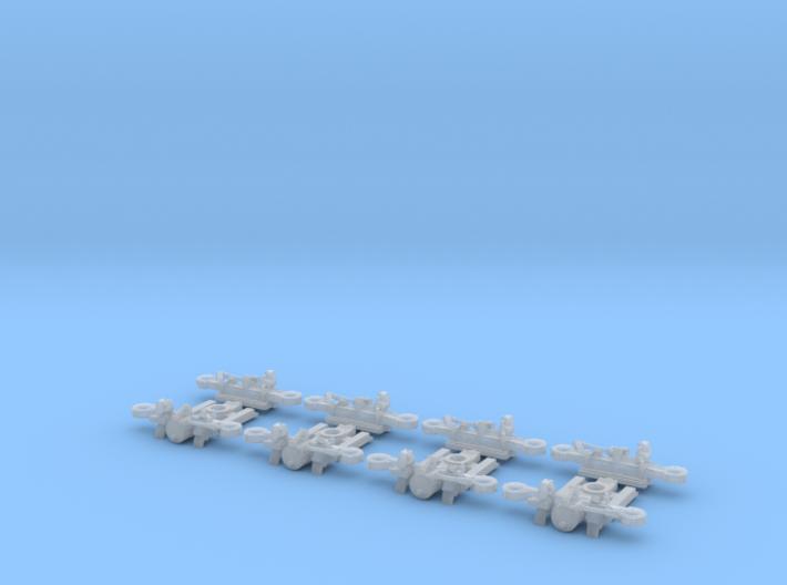 Tatra tram 1000 mm bogie kit - H0 [4x bogie] 3d printed