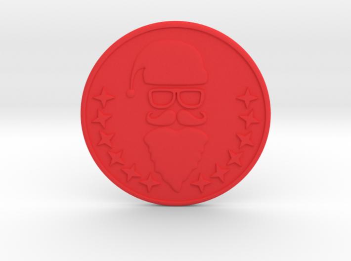 Santa Coaster 3d printed