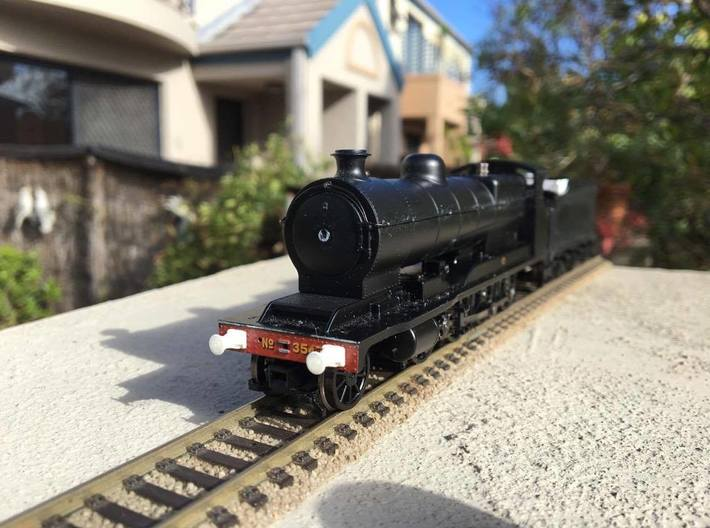 BDOO-1001 ROD Continental Buffers ('Short' rib)-OO 3d printed Buffers as attached to Bachmann 04