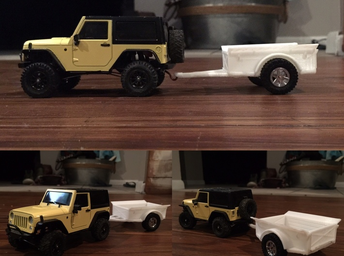 1:35th Scale Utility trailer 3d printed