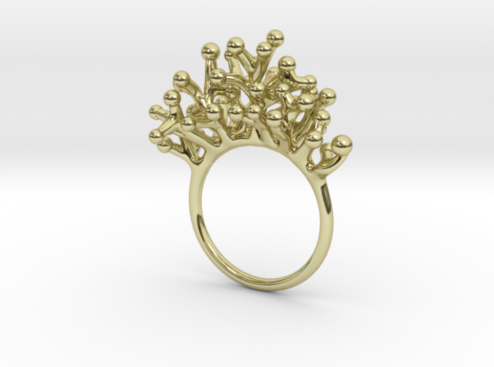 Ring Botryoides 3d printed