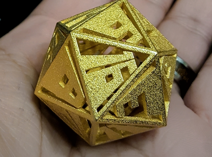 Vanishing Point d20, Hollow 3d printed