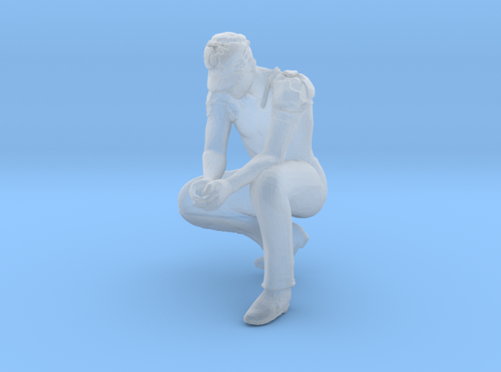 John Squat Hands Together 3d printed