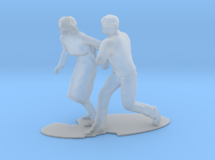 Couple Running Figure 3d printed