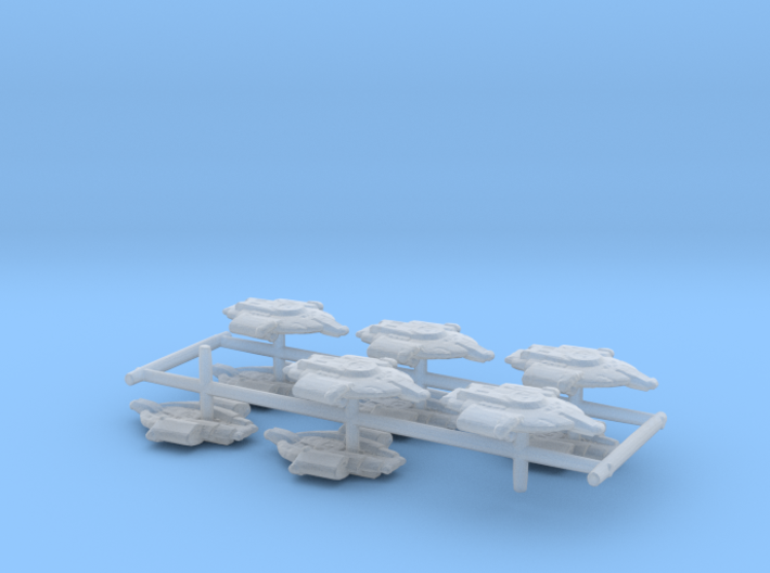 """Federation Defiant Class 1/2"""" 10-Pack 3d printed"""