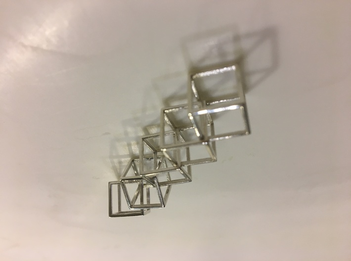 Interlocking Cube Necklace 5 3d printed