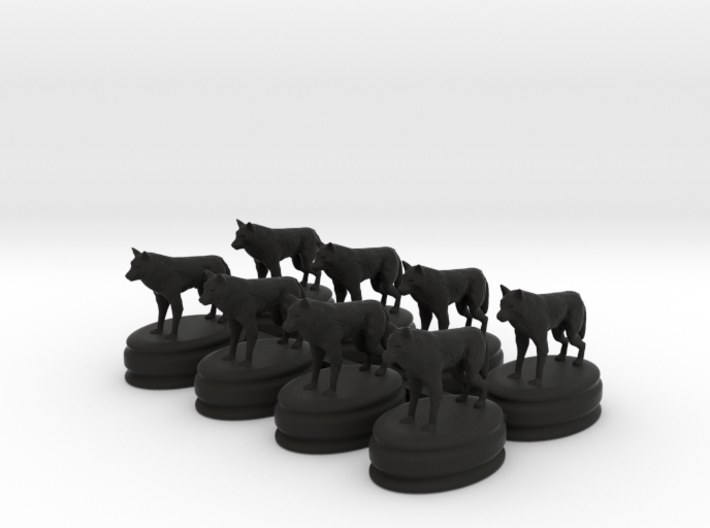 got dire wolf pawns 3d printed This is a render not a picture