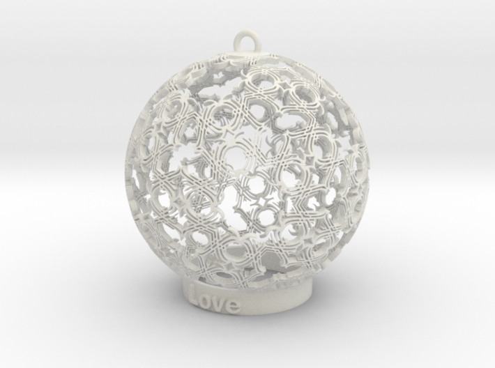 love Ornament 3d printed