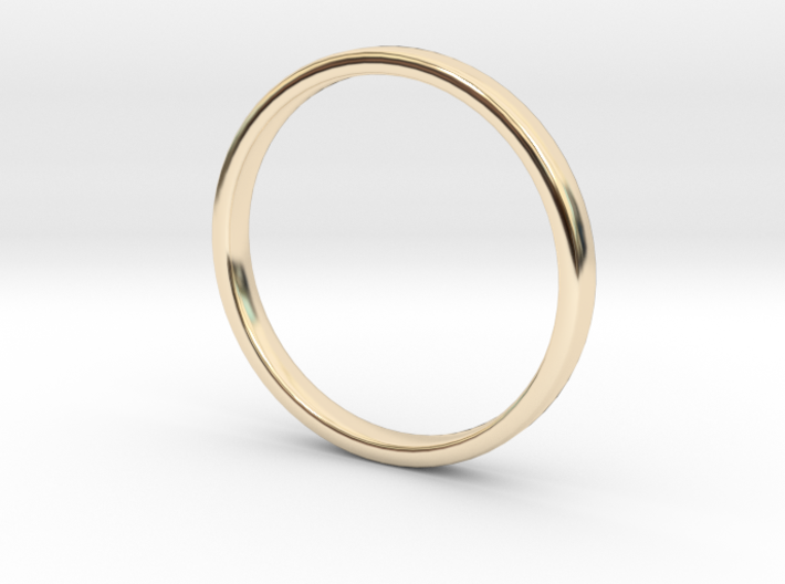 Simple wedding ring 2x1.1mm 3d printed