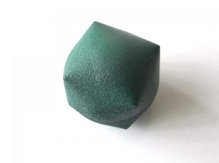 Inflated Cube 3d printed In Winter Green Strong and Flexible