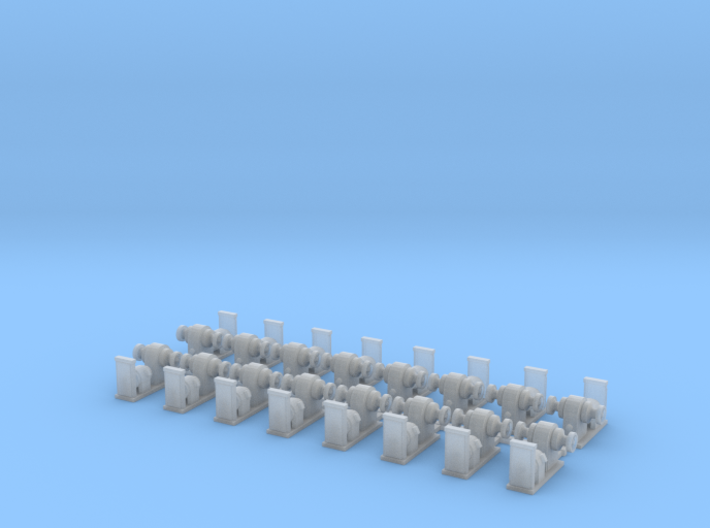 DD445 Deck Winches 350scale 3d printed DD445 class 16 deck winches 1:350