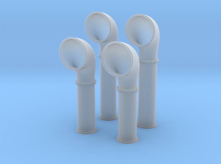 1/72 Scale Flowers Class Large Vent Set 3d printed 1/72 Scale Flowers Class Large Vent Set