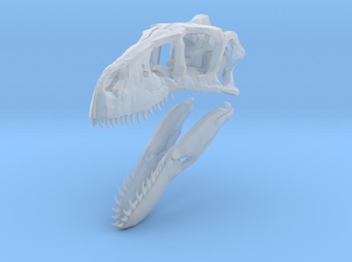 1:35 Utahraptor skull 3d printed