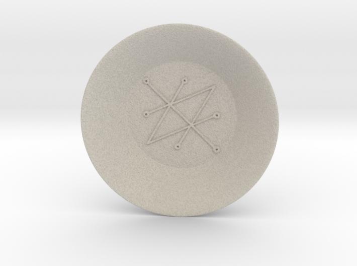 Seal of Saturn Charging Bowl (large) 3d printed