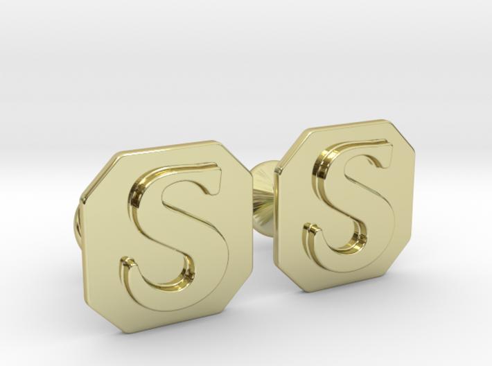 Monogram Cufflinks S 3d printed