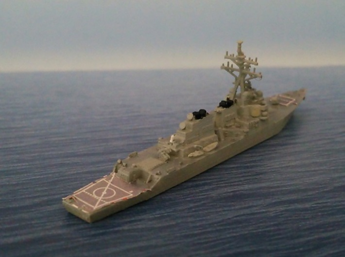 1/2000 USS Curtis Wilbur 3d printed painted and decal