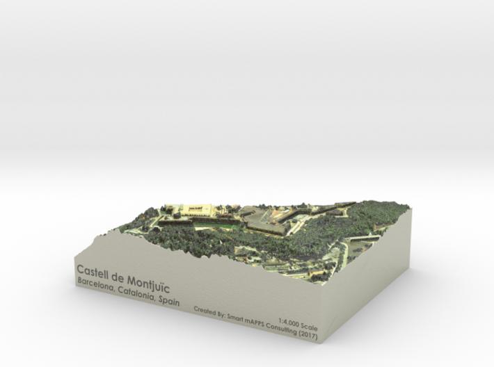 Castell de Montjuic Map: Color 3d printed