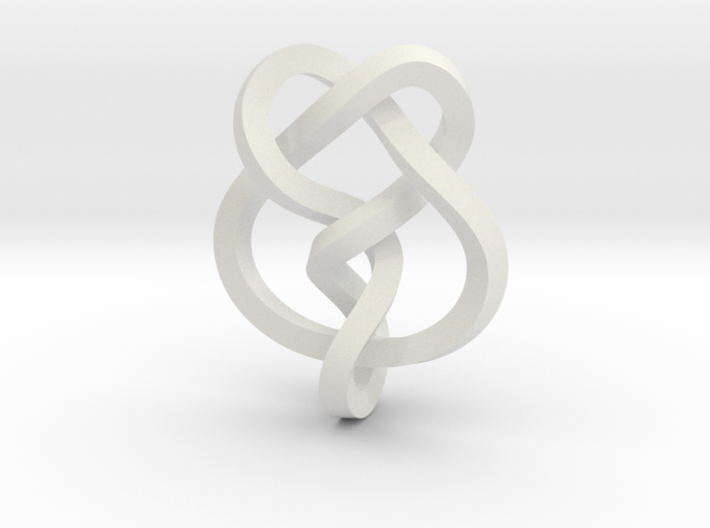 Miller institute knot (Square) 3d printed