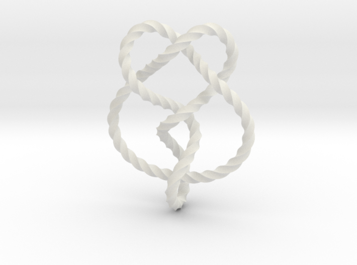 Miller institute knot (Twisted square) 3d printed