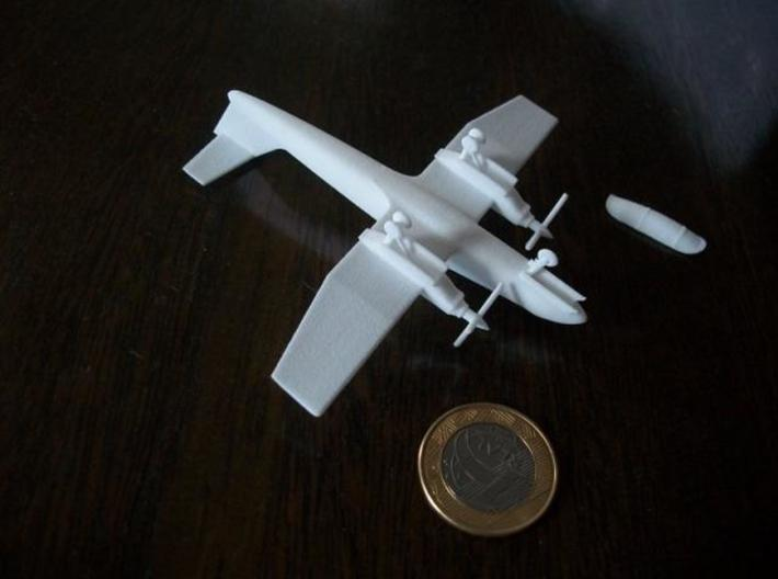009A IA-58 Pucara 1/144 3d printed Printed in WSF - Bottom view