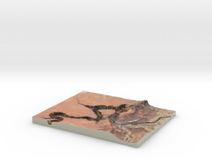 Horseshoe Bend Map, Arizona 3d printed
