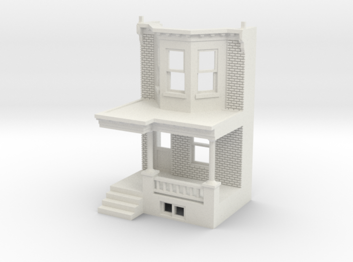 WEST PHILLY ROW HOME FRONT 87MIR 3d printed