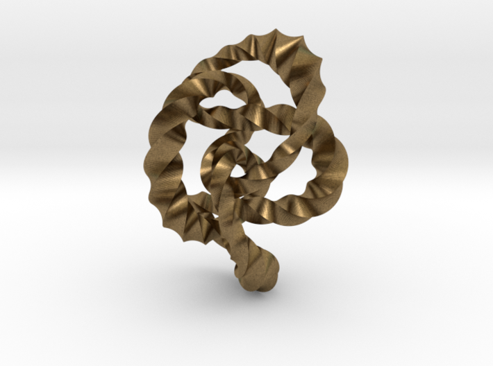 Knot 8₂₀ (Twisted square) 3d printed