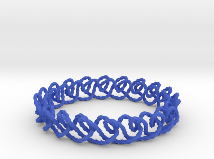 Chain stitch knot bracelet (Twisted square) 3d printed