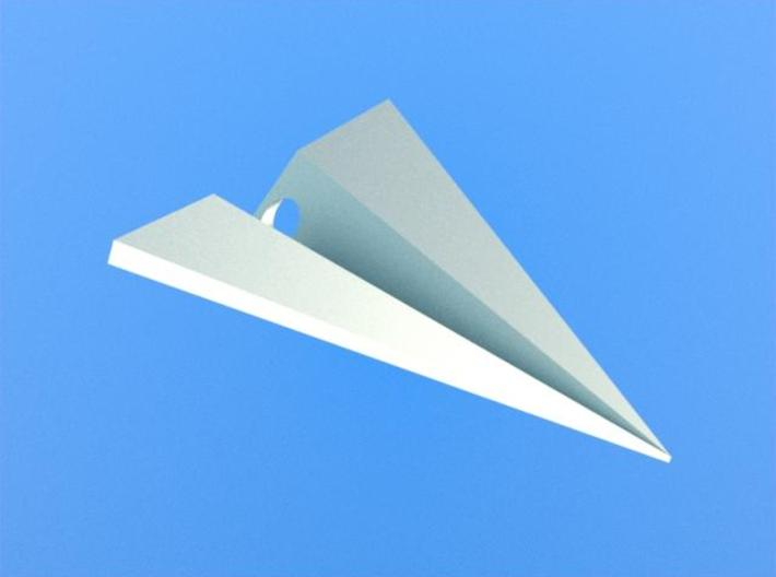 Paper Airplane Pendant 3d printed Rendered image.