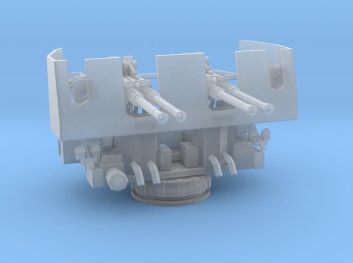1/600 USN 40mm quad bofors shielded set x4 3d printed
