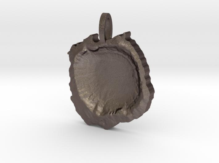 Meteor Crater Map Pendant, Contour Cut 3d printed