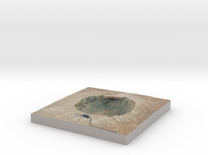 Meteor Crater Map, Arizona: 6 Inch 3d printed