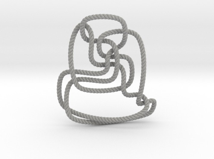 Thistlethwaite unknot (Rope with detail) 3d printed