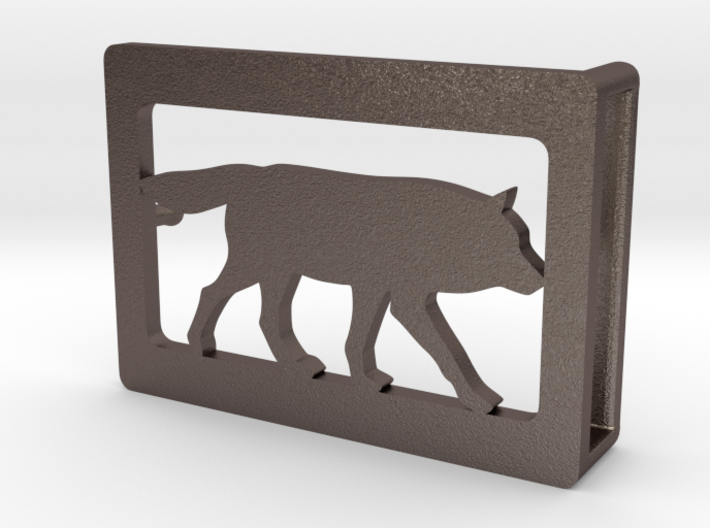 Belt Buckle - Wolf - M1FE 3d printed