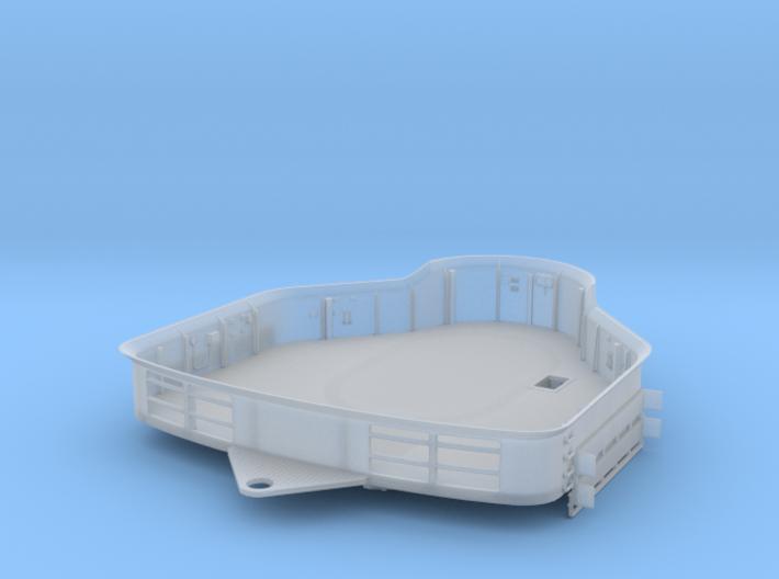 1/200 Bismarck Bridge for Foretop Deck 3d printed